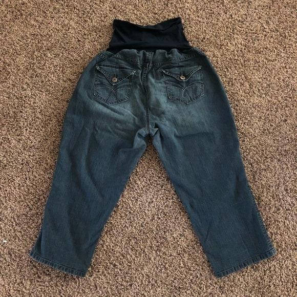 979500e807c56 M_5af1cf2c3b16080cec6f69e7. Other Jeans you may like. Maternity jean capris.  Maternity jean capris. $15.00 $30.00. Oh Baby By Motherhood Secret Fit Belly  ...